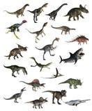 Reeks 3D dinosaurussen - geef terug Stock Afbeeldingen