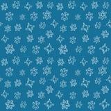 Reeks 3D hand getrokken sneeuwvlokken Het naadloze patroon van Kerstmis Vector illustratie vector illustratie