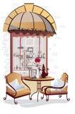 Reeks de meningen en rozen van de straatkoffie royalty-vrije illustratie