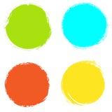 Reeks de slagachtergronden van de cirkelborstel op witte achtergrond worden geïsoleerd die Vector illustratie vector illustratie