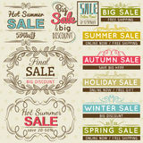 Reeks de speciale etiketten en banners van de verkoopaanbieding Stock Foto
