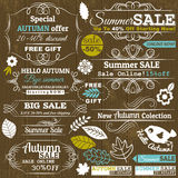 Reeks de speciale etiketten en banners van de verkoopaanbieding Royalty-vrije Stock Foto's