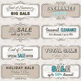 Reeks de speciale etiketten en banners van de verkoopaanbieding Royalty-vrije Stock Afbeelding