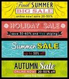 Reeks de speciale etiketten en banners van de verkoopaanbieding Royalty-vrije Stock Foto