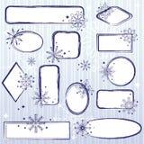 Reeks de winterframes Stock Foto's
