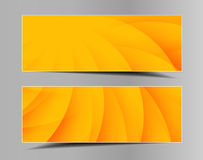 Reeks de zomer-lente horizontale banners Stock Foto's