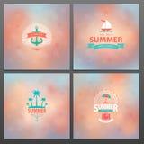 Reeks de zomerkaarten Royalty-vrije Stock Fotografie