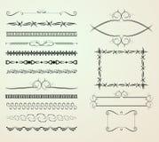 Reeks decoratieelementen Stock Afbeeldingen