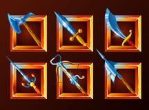 Reeks decoratiepictogrammen voor spelen royalty-vrije illustratie