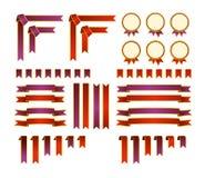 Reeks decoratieve elementen Royalty-vrije Stock Afbeelding