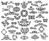 Reeks decoratieve elementen verdelers Vector illustratie Goed gebouwd voor het gemakkelijke uitgeven Voor kalligrafie grafisch on Royalty-vrije Stock Fotografie