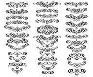 Reeks decoratieve elementen verdelers Vector illustratie Goed gebouwd voor het gemakkelijke uitgeven Voor kalligrafie grafisch on Royalty-vrije Stock Foto