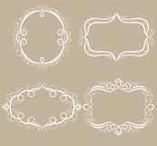 Reeks decoratieve frames. Royalty-vrije Stock Foto's