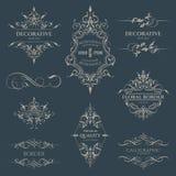 Reeks Decoratieve grenzen en kaders Royalty-vrije Stock Afbeelding