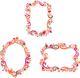 Reeks decoratieve kleurrijke retro frames Royalty-vrije Stock Fotografie