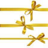Reeks decoratieve mooie gouden bogen Stock Fotografie