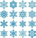 Reeks decoratieve sneeuwvloksilhouetten Dit is dossier van EPS10-formaat Nieuwe jaardecoratie Stock Afbeeldingen