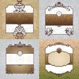 Reeks decoratieve uitstekende frames Royalty-vrije Stock Afbeelding
