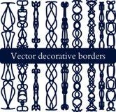 Reeks decoratieve vectorgrenzen Royalty-vrije Stock Fotografie