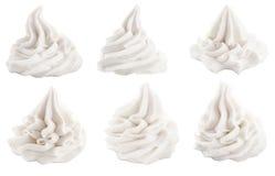 Reeks decoratieve wervelingen voor dessertbovenste laagjes Royalty-vrije Stock Afbeelding
