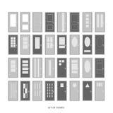 Reeks deuren, vector Stock Afbeelding