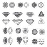 Reeks diamanten royalty-vrije illustratie