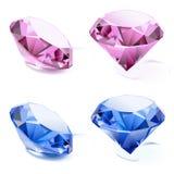 Reeks diamanten Royalty-vrije Stock Afbeelding