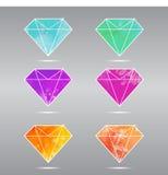 Reeks diamanten Stock Fotografie
