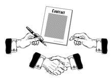Reeks die handen van pictogrammenmensen diverse gebaren maken Stock Foto's