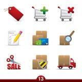 Reeks die van het pictogram - de winkelt stock illustratie