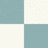 Reeks die van vector naadloze uitstekende textuur 4, een oude deklaag met krassen en oneffenheden imiteren stock illustratie