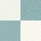 Reeks die van vector naadloze uitstekende textuur 4, een oude deklaag met krassen en oneffenheden imiteren vector illustratie