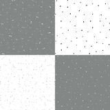 Reeks die van zwart-witte vector naadloze uitstekende textuur 4, een oude deklaag met krassen en oneffenheden imiteren vector illustratie