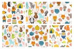 Reeks dierenachtergronden Stock Afbeelding
