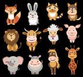 Reeks dierenpictogrammen Stock Afbeelding
