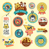 Reeks dierlijke etiketten en stickers Stock Afbeelding