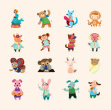 Reeks dierlijke pictogrammen Royalty-vrije Stock Foto's