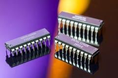 Reeks digitale ICs Royalty-vrije Stock Foto's