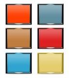 Reeks dimensionale frames Stock Afbeelding