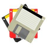 Reeks diskettes Stock Afbeelding