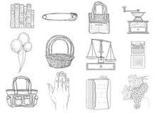 Reeks diverse pictogrammen Royalty-vrije Stock Afbeeldingen