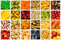 Reeks diverse vruchten en groenten Stock Afbeeldingen