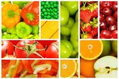 Reeks diverse vruchten en groenten Royalty-vrije Stock Afbeelding