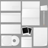 Reeks document enveloppen. Vector illustratie. Stock Afbeeldingen