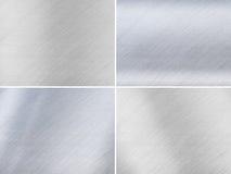 Reeks Donkere en Lichtgrijze Texturen van het Metaal Stock Afbeeldingen