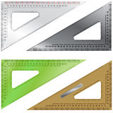 Reeks Driehoeken voor het Opstellen en Techniek Stock Afbeelding