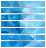 Reeks driehoekige banners Royalty-vrije Stock Foto