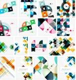 Reeks driehoeks geometrische abstracte achtergronden Stock Afbeelding