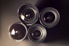 Reeks DSLR-lenzen, verschillende grootte en Stock Afbeeldingen