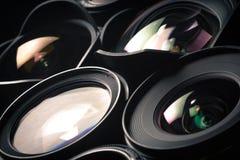 Reeks DSLR-lenzen, verschillende grootte en Royalty-vrije Stock Afbeelding